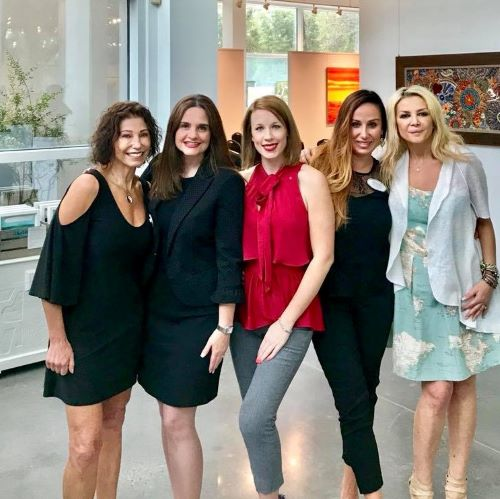 Team at Glade Gallery Sept Int'l Breakfast & Networking w/Speaker