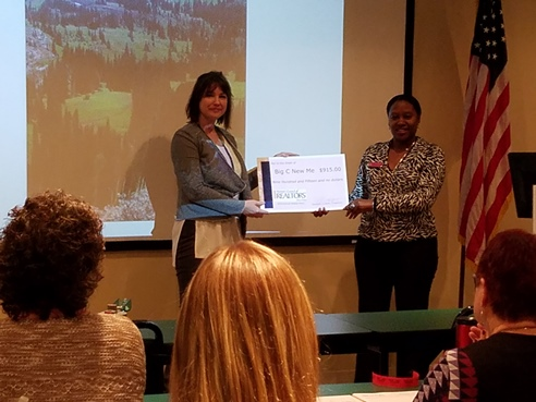 "2017 S.Lisa Herndon's Presentation of Check to Amy Hart for ""Big C New Me'"
