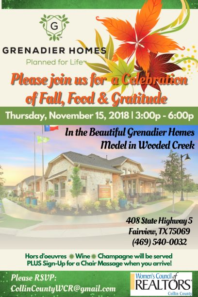 Fall Celebration at Grenadier Homes Model in Wooded Creek
