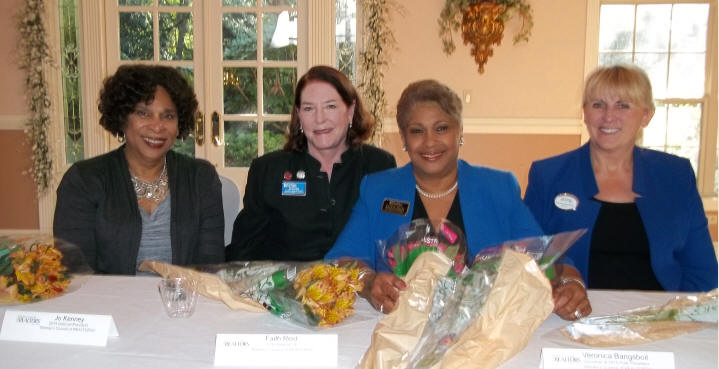 "October 4, 2016 - ""Panel of WCR Experts"" L-R 2010 National President, Deborah Gilmore; 2014 National President, Jo Kenney; 2016 Regional Vice President, Faith Reid; and 2016 GA Governor, Veronica Bangsboll. #WCRRocks"