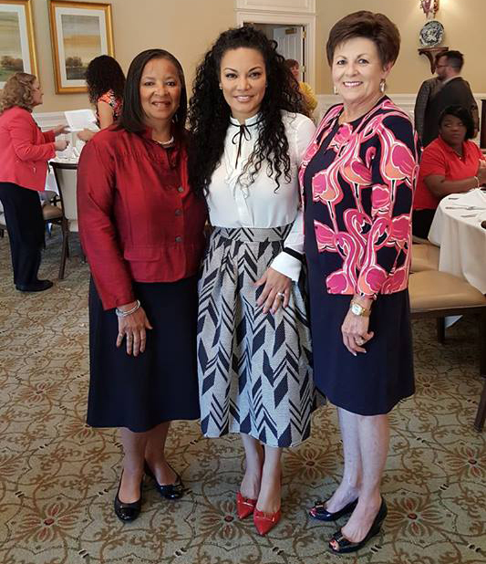 Some of our members with our featured speaker Egypt Sherrod from HGTV!