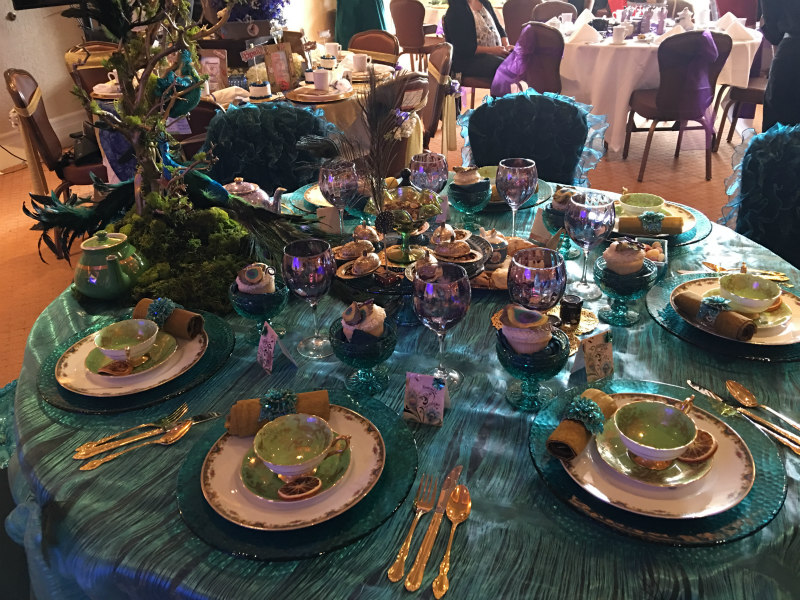 "May 2016 ""Tea With a Cause"" table host winner Jill Huntsinger for ""Most Creative"" theme."