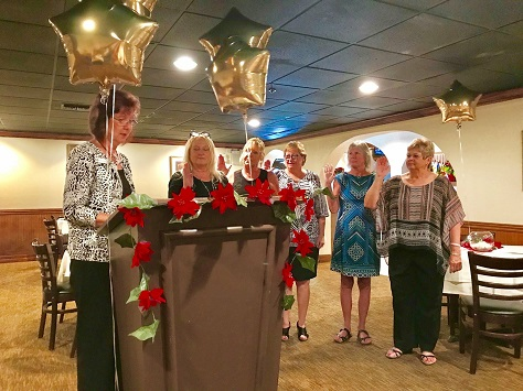 2018 Englewood on the Gulf Installation of officers by Karen Current
