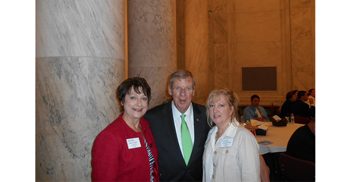 Johnny Isakson, Denise Propes & Connie Lawson in Washington, D.C.