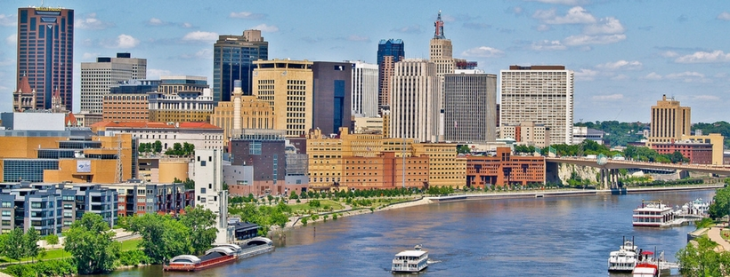 Beautiful St Paul River Skyline