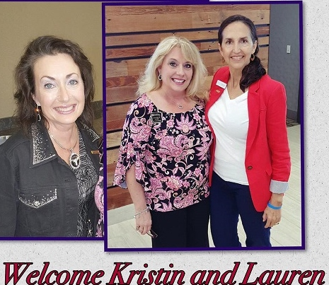 Kristin Miner & Lauren Bach our new Members with Jennifer Lish