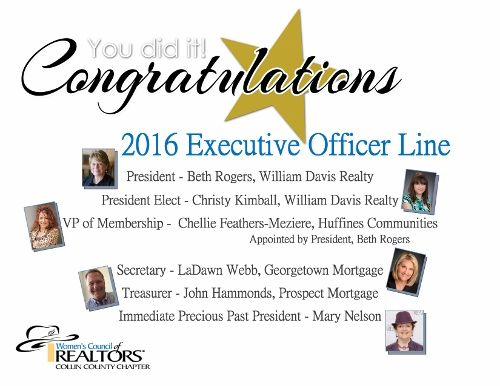 Congratulations 2016 Line Officers!