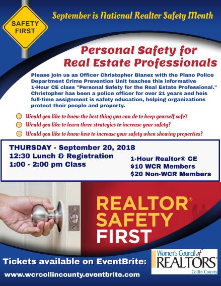 Personal Safety for Real Estate Professionals