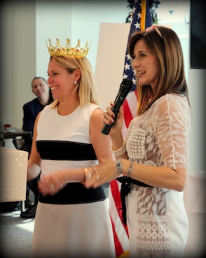 Crowning our District Vice President Tracy Lee Wood!