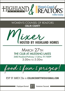 Mustang Lakes Highland Homes Mixer