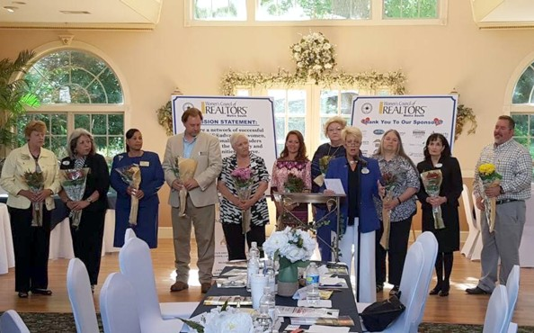 Honoring Some of Our Past Presidents-Tammy Noll, Presiding. LtoR: Dottie Wise, Carolyn Brown, Gary Lee, Earlene Gardner, Tammy Carlisle, Tricia Capps, Sally Knight, Charlene Faucett & David Barton. Thank you for your service!!
