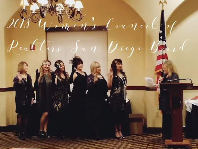 Installing the 2018 Women's Council of REALTORS® San Diego County Board