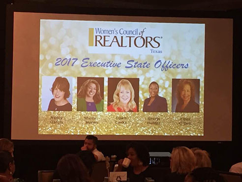 Congratulations to our own Sheila Moran, 2017 President Elect WCR Texas