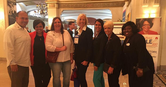May 10, 2016 - LtoR: Les Lane, Brianne Drake, Brande Bradford, Michelle Griffin, Amy Hudgins, President Tammy Noll, and Angela Ham.  #WCRRocks