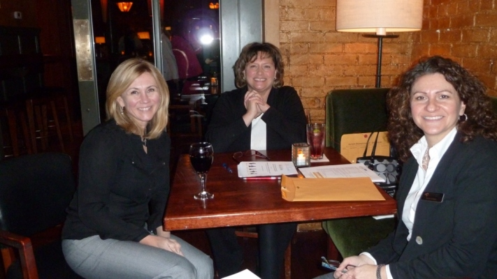 Board Member Sheri Sibley, VP of Membership Kim Moccia, and Secretary Jean Cohen